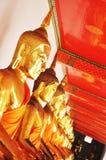Buddha image. Close up on many gold Buddha Image Royalty Free Stock Photography