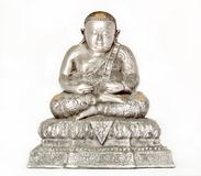 Buddha Image. Silver statue of Buddha Image Royalty Free Stock Photo