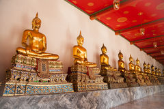 Buddha image. In the Thai temple Royalty Free Stock Photography