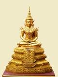 Buddha image. A golden imperial buddha image on isolated background Stock Photo