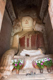Buddha image in ancient Burmese Buddhist pagodas Stock Photography