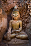 Buddha image in ancient Burmese Buddhist pagodas Stock Images