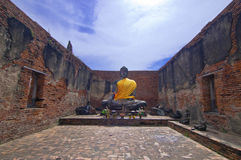 Buddha image in ancient temple Royalty Free Stock Photos