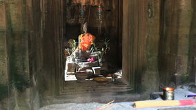 Buddha image in angkor thom stock video