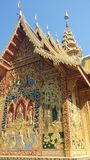 Buddha Image art. Buddha immage on the temple wall in Chiang Mai Stock Image