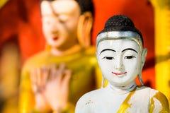 Buddha Image At Ananda Temple In Old Bagan, Myanmar Stock Image