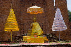 Buddha image in Ayutthaya, Thailand Royalty Free Stock Photo