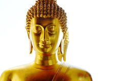 Buddha image and back reflection Royalty Free Stock Image