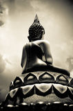 Buddha Image From Back Side (Sepia Tone) royalty free stock photo
