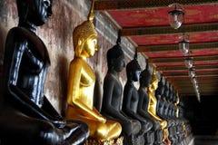 Buddha image in balcony of temple Stock Photos