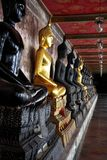 Buddha image in balcony of temple Royalty Free Stock Photos