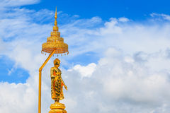 Buddha image and blue sky, Phasornkaew Temple Royalty Free Stock Image