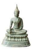 Buddha image. The bronze buddha image on white isolation Stock Image