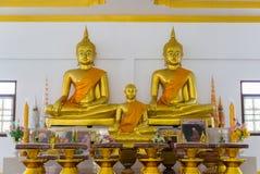 Buddha image and buddhist monk statue Royalty Free Stock Image