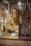 Buddha image and cat at Nga Phe Chaung Monastery Myanmar Royalty Free Stock Image