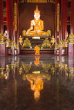 Buddha image at chiang mai temple, Thailand Стоковое Изображение