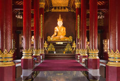 Buddha image at chiang mai temple, Thailand стоковое изображение