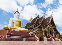 Buddha image at chiang mai temple, Thailand Stock Photo