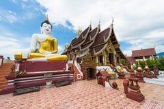 Buddha image at chiang mai temple, Thailand стоковое фото rf