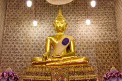Buddha image in church Royalty Free Stock Photography