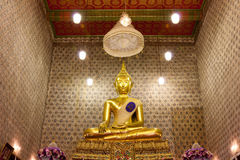 Buddha image in church Royalty Free Stock Photos