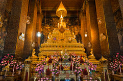 Buddha image in church of Wat Pho Royalty Free Stock Photography