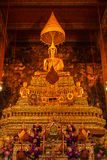 Buddha image in church of Wat Pho Thailand Royalty Free Stock Images