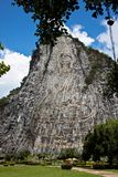 Buddha Image on The Cliff Royalty Free Stock Photo