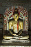 Buddha image in Dambulla Rock Temple, Sri Lanka Royalty Free Stock Image