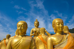 Buddha image with 1250 disciples statue Royalty Free Stock Photography