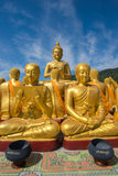 Buddha image with 1250 disciples statue Royalty Free Stock Image