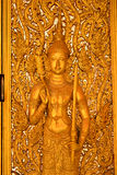 Buddha image on the door Royalty Free Stock Image