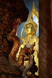 Buddha Image and Dragon Stock Photos