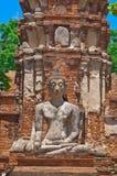 Buddha image at front of pagoda Stock Images