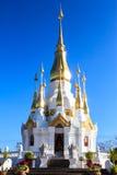 Buddha image hall. Gorgeous buddha image hall at wat Thumkuhasawan, Ubonratchathanee, Thailand Royalty Free Stock Photo