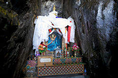 Buddha image in the hermitage cave at the Tiger's Nest, Paro, Bhutan Royalty Free Stock Photos
