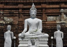 Buddha image at iconic Buddhist temple Royalty Free Stock Photography