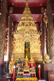 Buddha image, Lampang, Thailand. Buddha image of Wat Phrathat Lampangluang, the beautiful temple of Lampang province stock photos