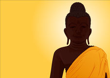 Buddha image. This Buddha image made from wood Royalty Free Stock Photography