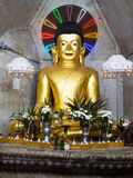 Buddha image in Mrauk-U, Myanmar Stock Image
