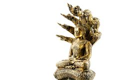 Buddha image with naga Royalty Free Stock Image