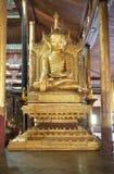 Buddha image at Nga Phe Chaung Monastery Myanmar Stock Images