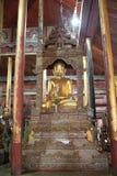 Buddha image at Nga Phe Chaung Monastery Myanmar Royalty Free Stock Images