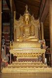 Buddha image at Nga Phe Chaung Monastery Myanmar Stock Photography