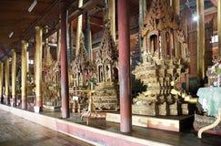 Buddha image at Nga Phe Chaung Monastery Myanmar Royalty Free Stock Photography