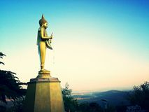 Buddha image in northern of thailand Royalty Free Stock Photography