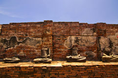 Buddha image and old wall Stock Images