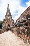 Buddha image and pagoda of Wat Chai Wattanaram Ayuthaya Stock Photography