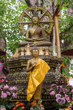 Buddha image in peace 2. Standing attitude Buddha image in peace 2 stock photography