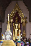 Buddha image in Phra Pathom Chedi Royalty Free Stock Photos